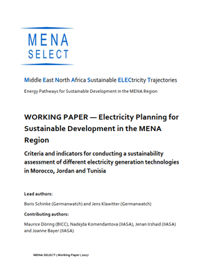 BICC Publications/Electricity Planning for Sustainable Development
